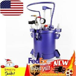 10L 2.5 Gallon Pressure Paint Pot Tank Spray Gun Sprayer Reg Air Mix Agitator US