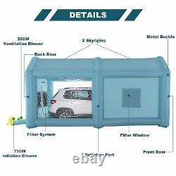 20×10×10 ft. Inflatable Paint Booth Portable Spray Paint Car Tent with Air Pumps
