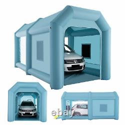 20x10x10ft Inflatable Paint Booth Airbrush Spray Paint Car Tent with Air Pumps