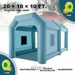 20x10x10ft Inflatable Paint Booth Portable Spray Paint Car Tent with Air Filters