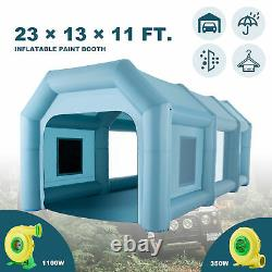 23x13x11ft. Blow Up Paint Booth Portable Spray Paint Tent w Air Filters & Pumps