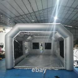 26X15X10FT Mobile Spray Booth Inflatable Paint Car Booth Tent Two Air Filter