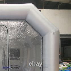 26x13ft Professional Inflatable Spray Paint Booth Car Workstation + 2 Air Blower