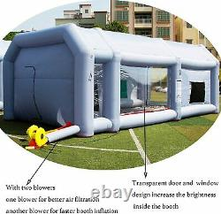 28x15x11Ft Inflatable Paint Booth 2 Room Spray Paint Car Tent with Air Blowers