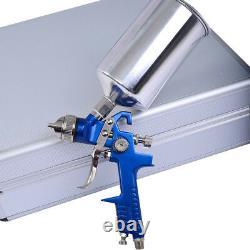 3 HVLP Air Spray Gun Kit Auto Paint Car Primer Detail Basecoat Clearcoat Tool1/4
