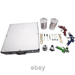 3 HVLP Aluminum Air Spray Gun Kit Auto Paint Car Primer Detail Basecoat