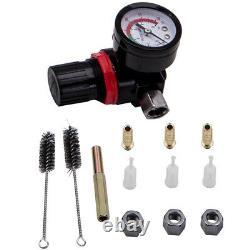 3 HVLP Aluminum Air Spray Gun Kit Auto Paint Car Primer Detail Clearcoat withCase