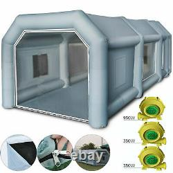 33×16×11 ft. Inflatable Paint Booth Portable Spray Paint Car Tent with Air Pumps