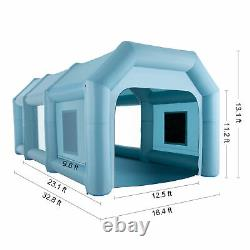 33 x16x13ft. Blow Up Paint Booth Airbrush Spray Paint Tent w Air Filters & Pumps