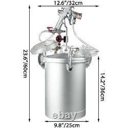 4 Gallon 4.0mm Nozzle High Pressure Pot Tank Air Paint Spray Gun Painting 2 Hose