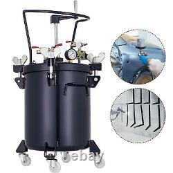 5 Gallon 20L Pressure Paint Pot Tank Spray Gun Sprayer Regulator Agitator