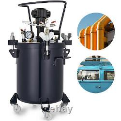5 Gallon Spray Paint Pressure Pot Agitator Lacquer 1/4 Air Inlet Wood Coating