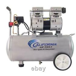 8.0 Gal. 1.0 Hp Ultra Quiet and Oil-Free Electric Air Compressor with Wheels New