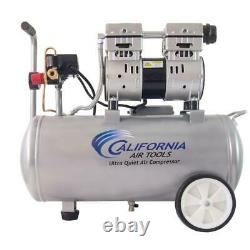 8.0 gal. 1.0 hp ultra quiet and oil-free electric air compressor tools steel