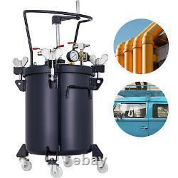 8 Gallon 30L Pressure Feed Paint Pot Tank Spray Gun Sprayer Regulator Agitator