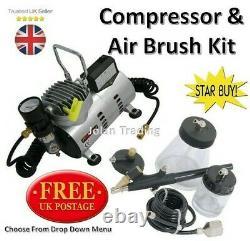 Air Brush Kit Air Compressor Spray Gun Craft Touch Up Crafts Water Separator