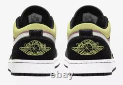 Air Jordan Retro 1 Low SE Size 10 Spray Paint Cyber Black Fuchsia CW5564-001