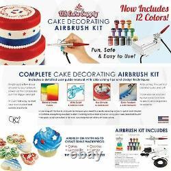 Airbrush Gun Kit Cake Decorating Air Compressor Complete Craft Art Spray Paint