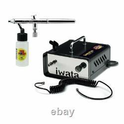 Anest Iwata Neo Air Brush & Ninja Jet Air Compressor Kit Spray Tan Auto Beauty