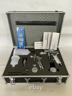 Automotive Paint Spray Gun Kit with Pressure Regulator Air Filter & Carry Case