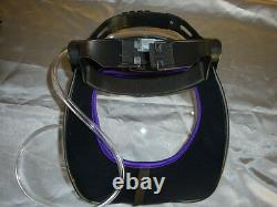 CRUSADER lite AIR FED VISOR, Airfed Paint Spray Mask Head top unit only