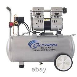California Air Tools 8010 Ultra Quiet & Oil-Free 1.0 Hp, 8.0 Gal. Steel Tan