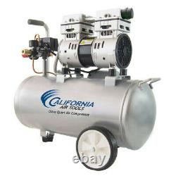 California Air Tools CAT-8010 1 HP 8 gal Oil-Free Hotdog Air Compressor New
