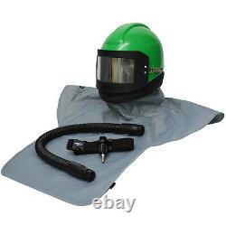 Complete Air Fed Sandblasting Hood Helmet System For Shotblasting & Sand Blast