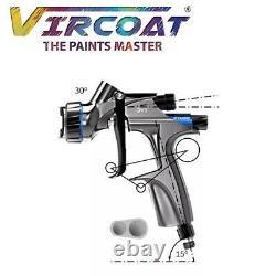 DeVilbiss Basecoat Paint/Clear coat Spray Gun DV1 with DV1-B PLUS HVLP-PLUS Air
