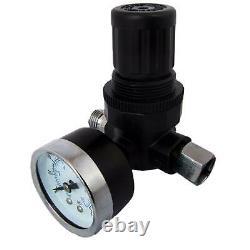 DeVilbiss FLG-5 1.3mm Paint Air Spray Gun + Air Pressure Regulator