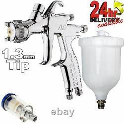 DeVilbiss FLG-5 1.3mm Paint Air Spray Gun + Dry Air Filter
