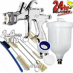 DeVilbiss FLG-5 1.4mm Paint Air Spray Gun + 13 Piece Cleaning Kit