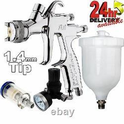 DeVilbiss FLG-5 1.4mm Paint Air Spray Gun + Air Filter & Pressure Regulator