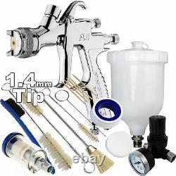 DeVilbiss FLG-5 1.4mm Paint Air Spray Gun + Air Filter/Regulator/Cleaning Kit