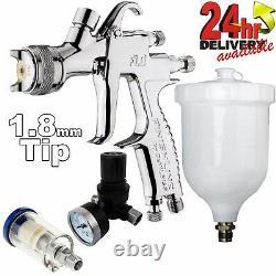 DeVilbiss FLG-5 1.8mm Paint Air Spray Gun + Air Filter & Pressure Regulator
