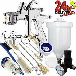 DeVilbiss FLG-5 1.8mm Paint Air Spray Gun + Air Filter/Regulator/Cleaning Kit