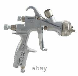 DeVilbiss FLG-5 1.8mm Paint Air Spray Gun + Bench Mount Stand