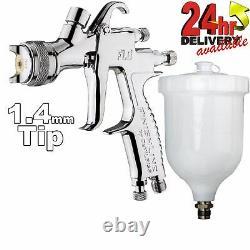 DeVilbiss FLG-5 1.8mm Paint Air Spray Gun + Dry Air Filter