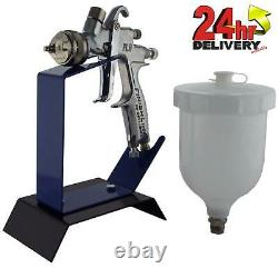 DeVilbiss FLG-5 2.0mm Paint Air Spray Gun + Bench Mount Stand