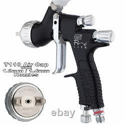 DeVilbiss GTi ProLite BLACK T110 Clearcoat/Gloss Smooth Spray Gun 1.3/1.4mm Tip