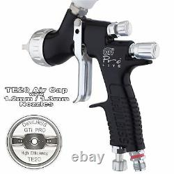 DeVilbiss GTi ProLite BLACK TE20 All Round Lacquer/Gloss Spray Gun 1.2/1.3mm Tip