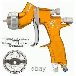 DeVilbiss GTi ProLite GOLD TE10 Solvent/Waterbase Spray Gun 1.3/1.4mm Tip