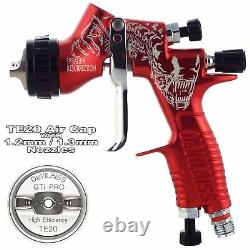 DeVilbiss GTi ProLite RED ALIEN TE20 Lacquer/Gloss Spray Gun 1.2/1.3mm Tip