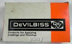 DeVilbiss JGA-502 Paint Spray Gun, New NIB + Used #30 Air Cap, Auto Shop Tool