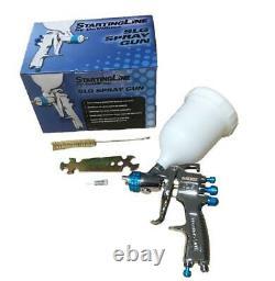 DeVilbiss SLG-620 1.3mm Air Paint Spray Gun + Bench Mount Stand