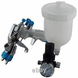 DeVilbiss SLG-620 1.8mm Air Paint Spray Gun + Air Pressure Regulator