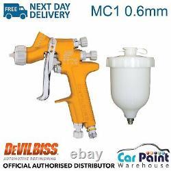 DeVilbiss SRI Pro Lite 0.6mm Fluid Tip MC1 Air Cap Spray Gun Paint Car