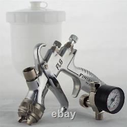 Devilbiss FLG-5-14 Gravity Spray Paint Gun 1.4mm Tip + Finer Pressure Regulator