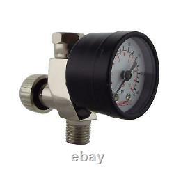 Devilbiss FLG-5-20 Gravity Spray Paint Gun 1.4mm Tip + Finer Pressure Regulator
