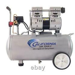 Electric Air Compressor 110-Volt Wheels Ultra Quiet Oil-Free Corded 8.0-Gal